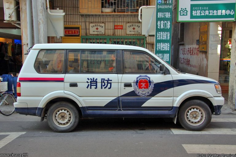 Chinese police car