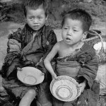 Images of Chinese famine during the Civil War - Chinese kids