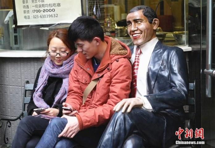 Obama statue in China