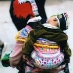Yizu child - Yuanyang rice-paddy terracing images and video Yunnan China