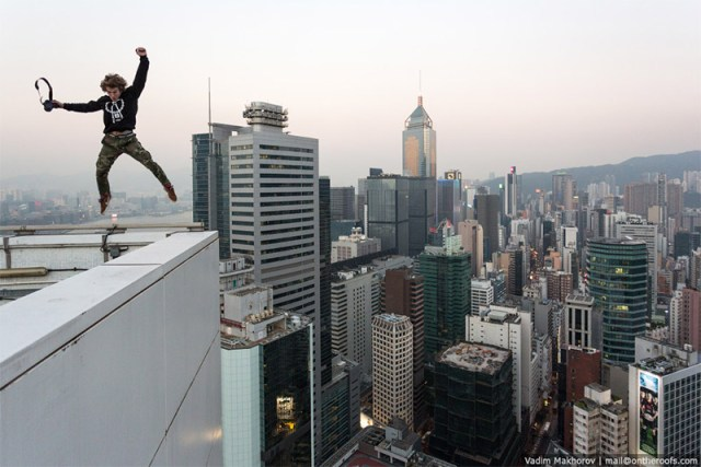 Skywalking in Hong Kong