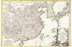 Bonne Map of China, Korea, Japan and Formosa