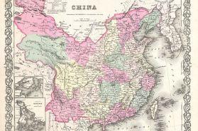 1855 Colton Map of China, Taiwan, and Korea