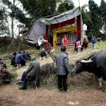 March 9, 2014. The village is mostly composed by elderly and children left behind.