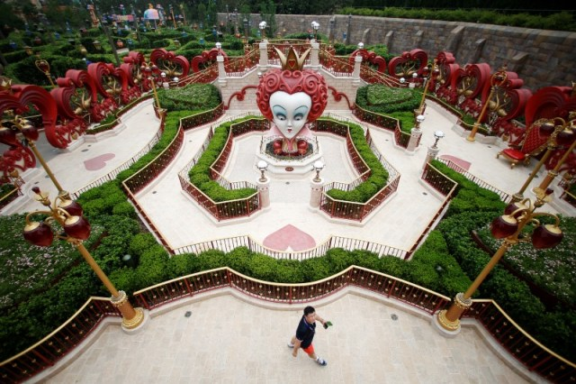 A man visits Shanghai Disney Resort during a three-day Grand Opening event in Shanghai, China, June 15, 2016. REUTERS/Aly Song