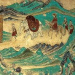 Xuanzang returned from India. Dunhuang mural, Cave 103. High Tang period (712-765).