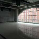 An empty area inside of Hongxiang Building, which houses an incubator for high-tech start-ups, is seen in Shacheng