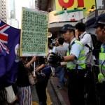 Demonstrators protest in Hong Kong