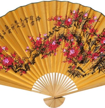 Chinese Wall Fans Lucky Blossoms