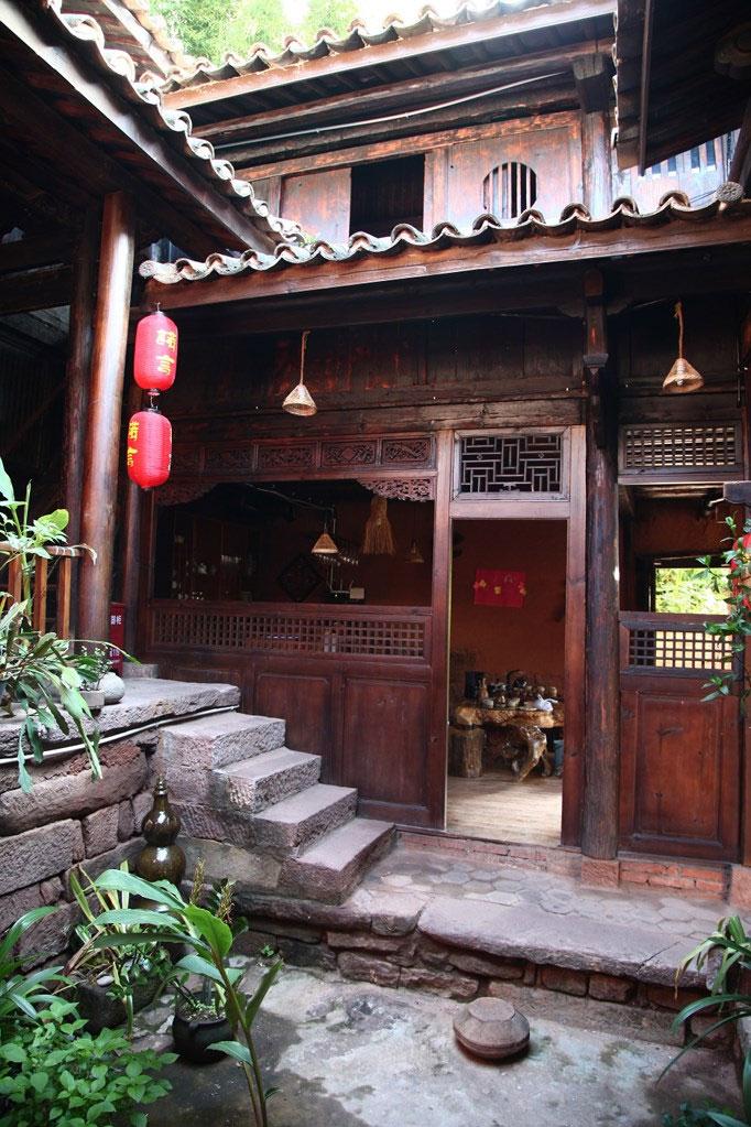 Taiji fishing village, the village shaped like the Yin and Yang