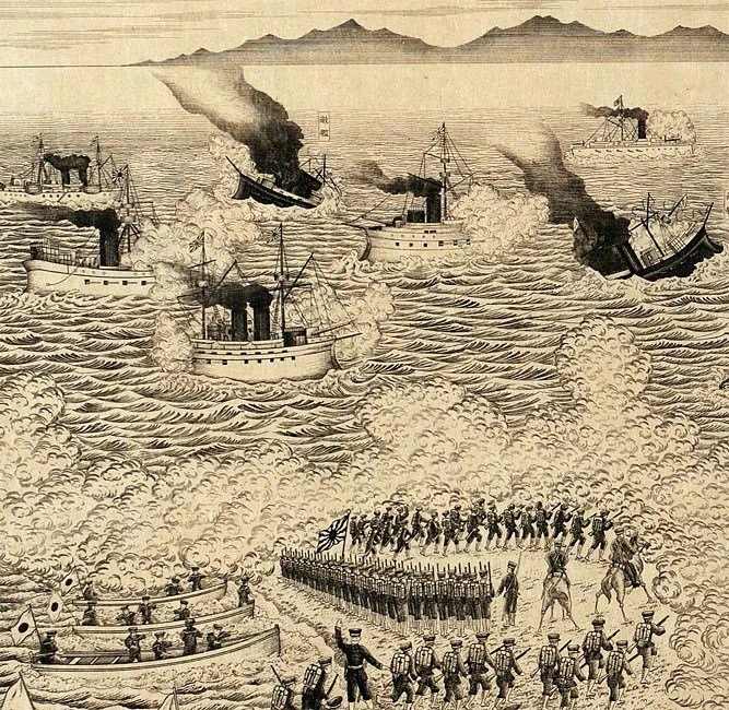 The Second Army Attacking and Occupying Port Arthur