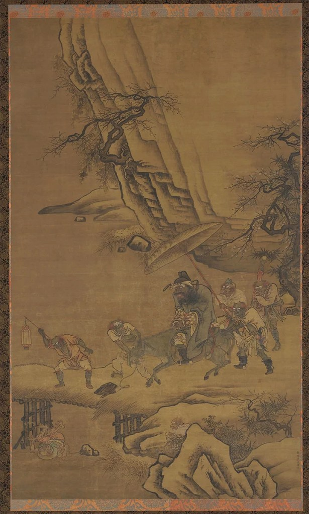 Zhong Kui and Demons Crossing a Bridge