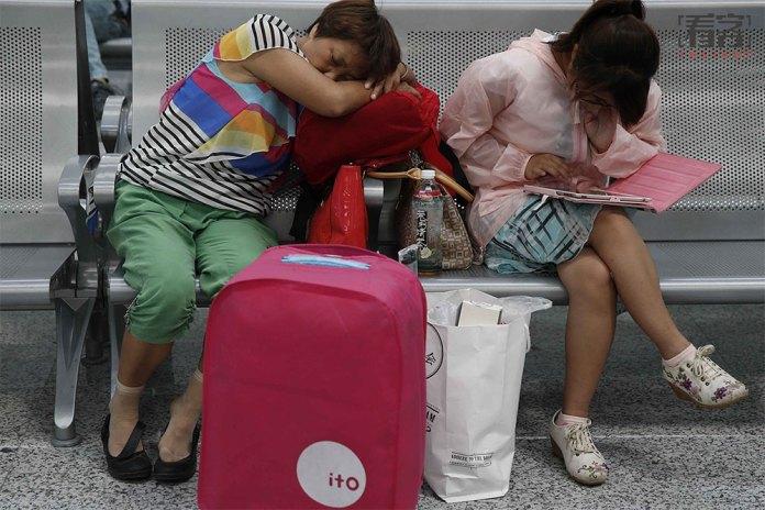 Chinese sleep anywhere