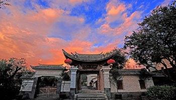 Heshun town - sunset