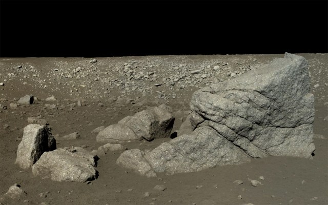 YUTU ROVER VIEW OF PYRAMID ROCK