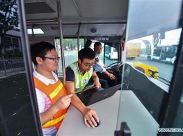 Self-driving buses China
