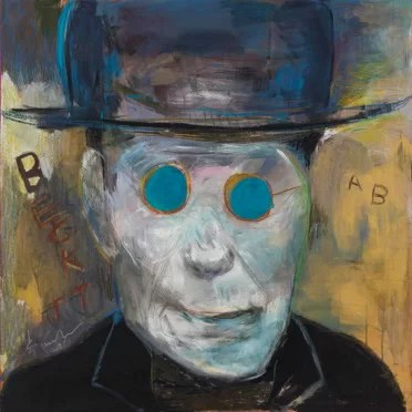 Lu Ming 卢明, Beckett (2016), Mixed Media on Wooden Board, 100 x 100 cm