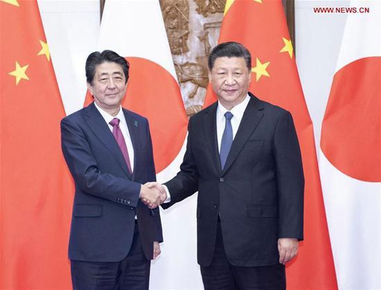 xi-jinping-shinzo-abe-China and Japan economic ties
