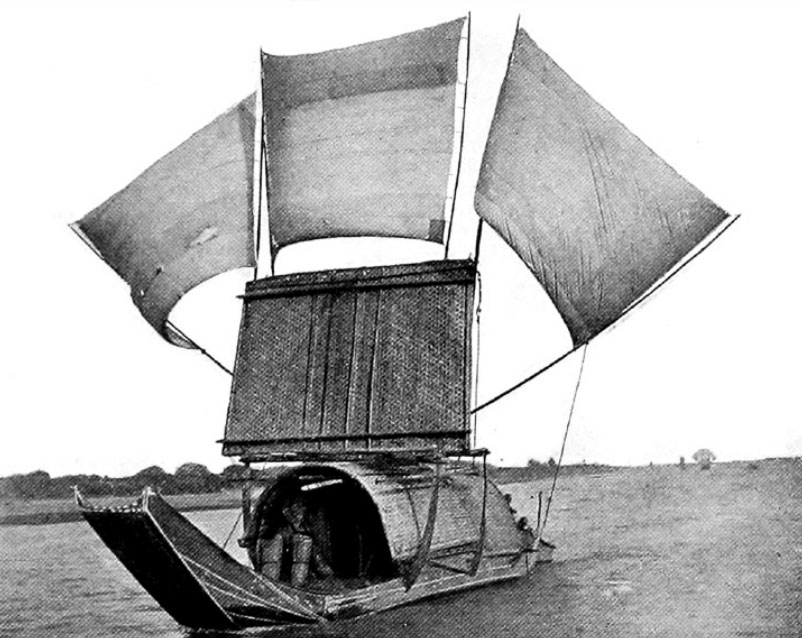 A Boat on the Min River, Used for Running the Rapids
