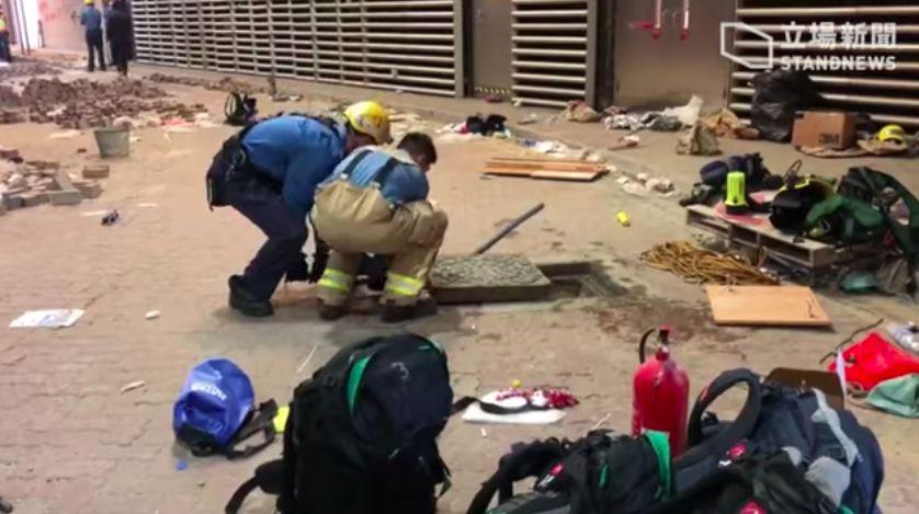 PolyU students attempt escape via underground sewers