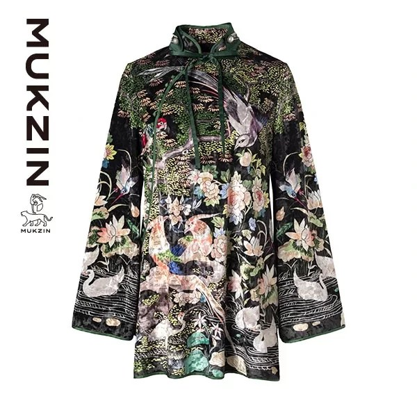 Mukzin-Designer-Brand-Floral-Print-Cheongsam-(Qipao)---SPACE-IN-THE-GOURD