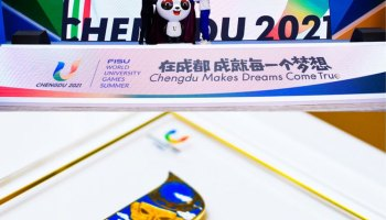 The-Slogans,-Emblems-and-Mascots-of-the-31st-Summer-Universiade-in-2021-were-Officially-Released-in-Chengdu,-China_Summer Universiade 2021