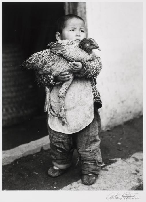 Boy with chicken, Hungjao, China