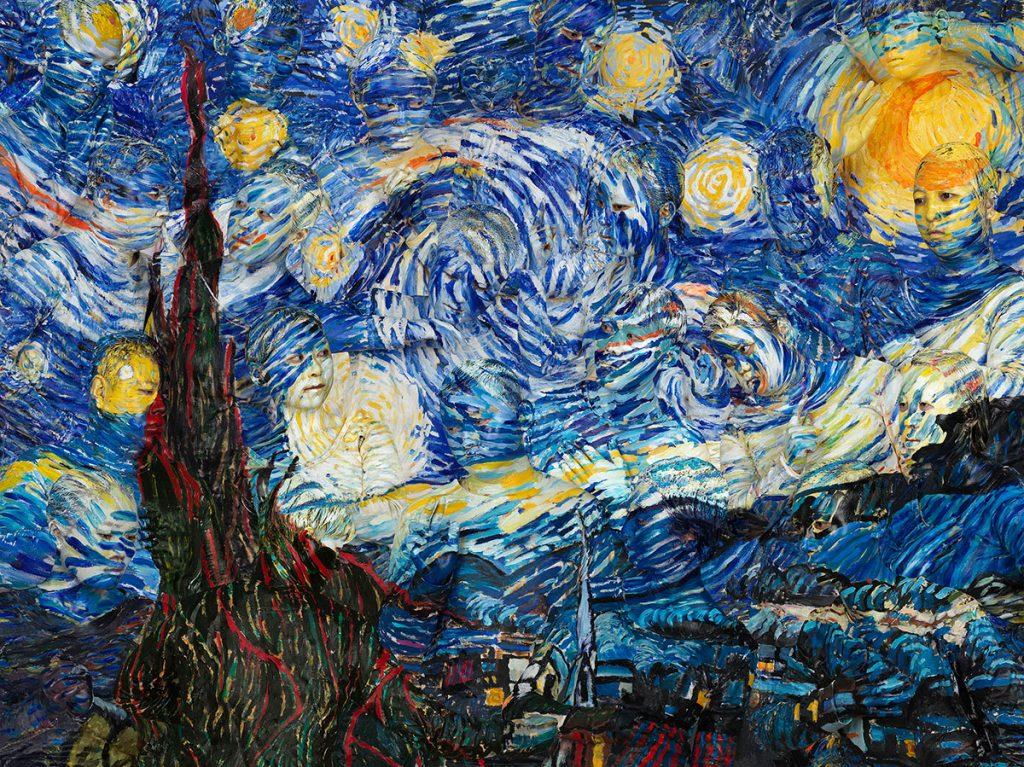 liu-bolin-Starry-Night