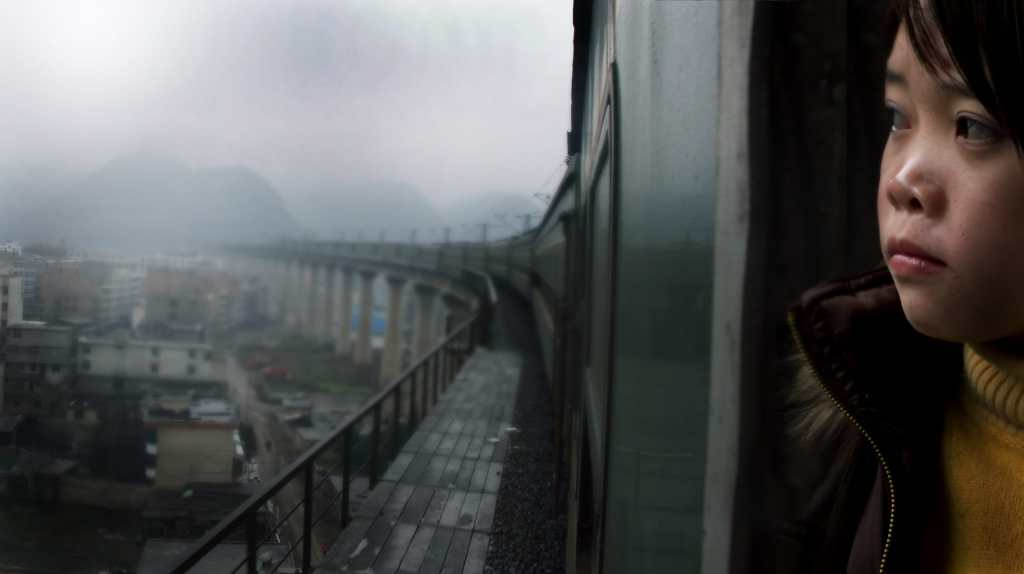 """Image from the movie """"Last Train Home"""""""