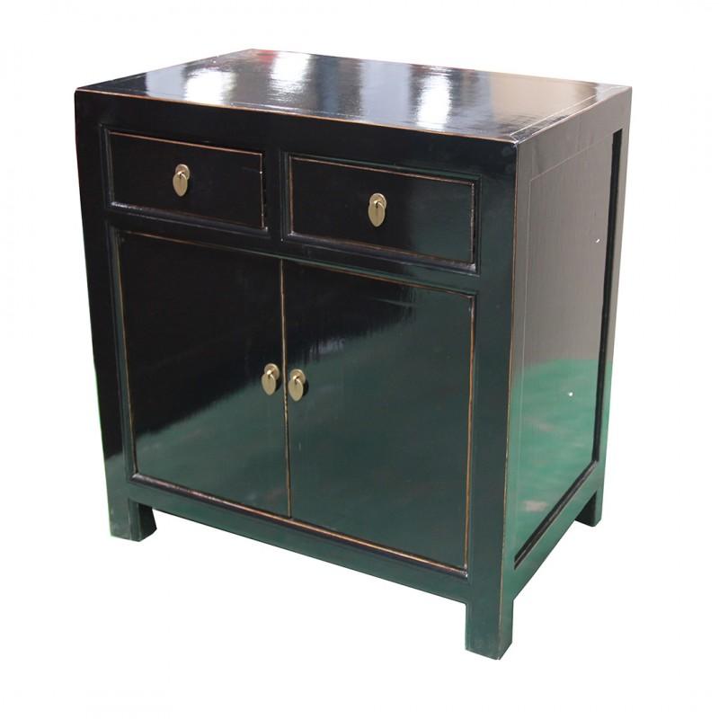 petit meuble chinois laque noir