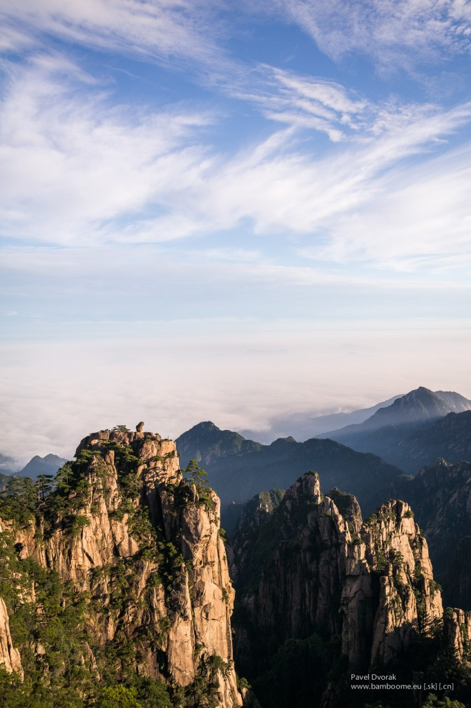 Huangshan mountain in Anhui, China