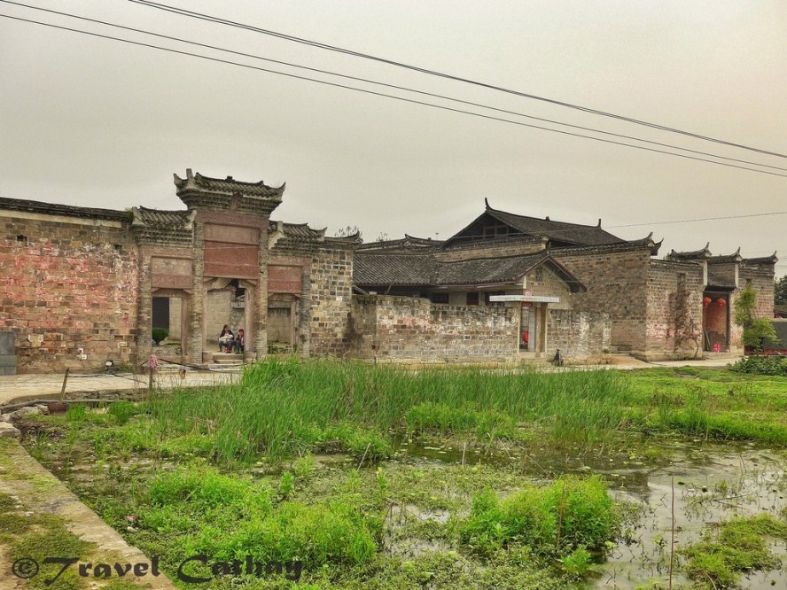 Beyond the facade of the Pan Clan Ancestral Hall. A common historical village of rural China.