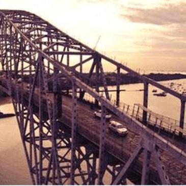 美洲大桥维修工程现恢复施工