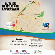 San Miguelito市上周末举行建市庆祝游行
