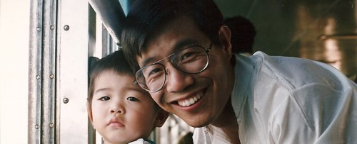 Dr. Wang Bingzhang and son.
