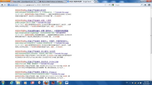 A screenshot of the search result of Professor Bu's article.
