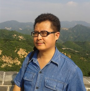 Guo Feixiong (郭飞雄 ) on the Great Wall, Badaling, Beijing, in August 2012.