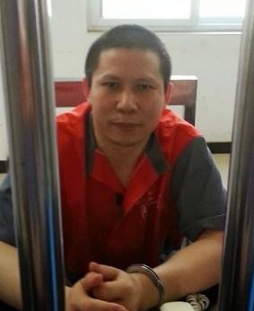Xu Zhiyong in Beijing Third Detention Center in July, 2013.