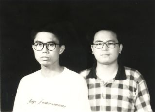 Liu Xianbin (left) and Chen Wei went to Suining  High School together.