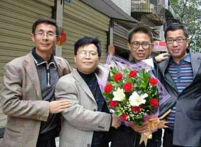 On the day Liu Xianbin was released in November, 2010.