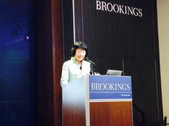 Professor Wang Zheng spoke at the Brookings Institute in Washington, DC, on April 3, 2015.