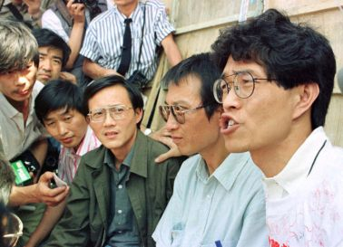 Liu Xiaobo in 1989, second from left.