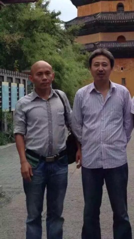Xie Wenfei (left) and Wang Mo.