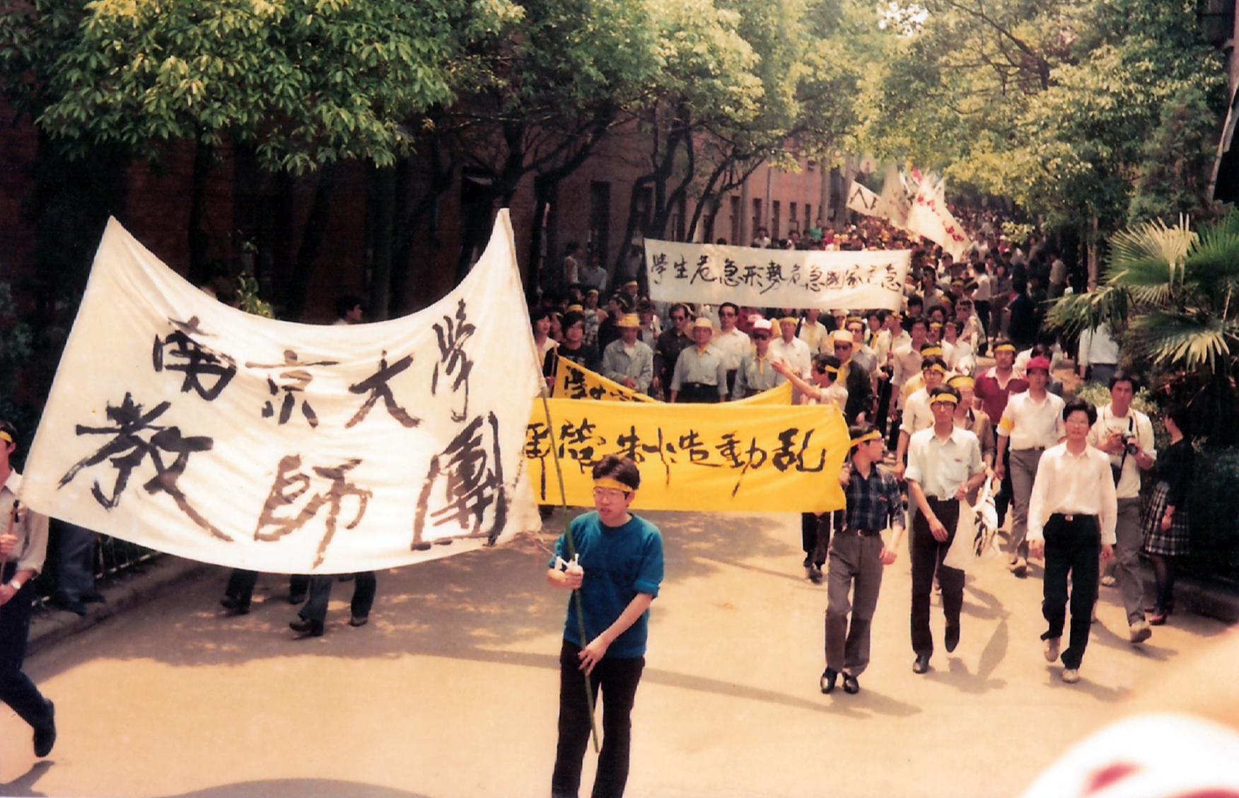 吴建民_南京大学生北上出发图片