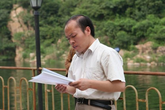 Li Baiguang, 2005, 受洗前宣读《爱的见证》