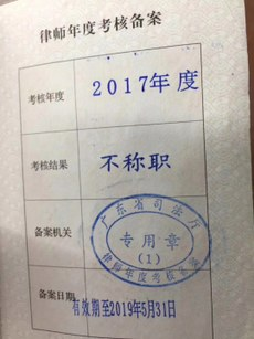 Lv Shijie, 年检不称职