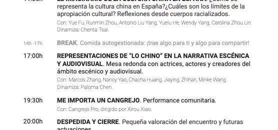 """Mesa redonda """"Representaciones de """"lo chino"""" en la narrativa escénica y audiovisual."""