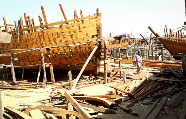 A fishing boat under construction (Image: Zofeen T Ebrahim)