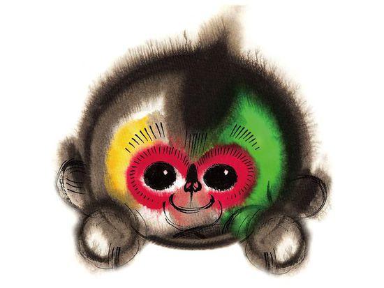 Han Meilin's monkey.