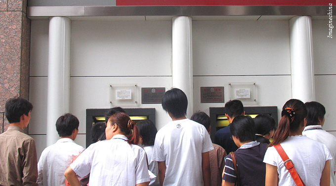 queue at ATM